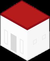 MeinDach Dachplaner, Illustration von Haus mit Flachdach. Dachdecker finden.