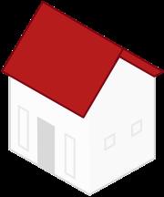 MeinDach Dachplaner, Illustration von Haus mit Steildach. Dachdecker finden.